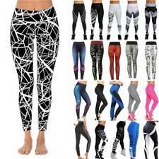 Women Sport Running Yoga Pants High Waist Compression Leggings Fitness Gym Print