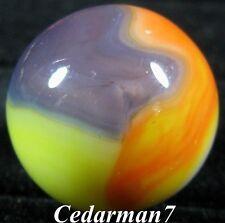 "Cedarman7; Outstanding 27/32"" Wet Mint (-) Vitro Agate Tiger Eye Shooter Marble!"