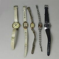 5 x 50er Jahre  Armbanduhr Handaufzug  teilweise defekt