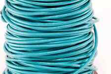 """50m Turquoise Blue Green 3MM Genuine Round Leather Cord 1/8"""" DIY Craft 50 Yards"""