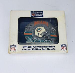 VTG Miami Dolphins Classic Logo Siskiyou Belt Buckle NFL Licensed Football USA