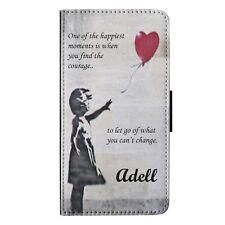 Personalised Banksy Inspired Girl Release Red Balloon Flip Wallet Phone Case