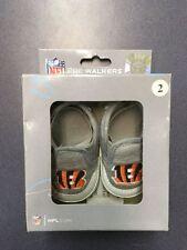 K)  NIB Cincinnati Bengals Baby Shoes Fanatics Size 2 Pre-Walkers 3-6 Months