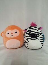"Squishmallows Setx2 Elton Monkey Ricky Clownfish 7.5"" Super Cute"