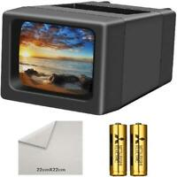 LED Lighted Illuminated 35mm Slide Viewer(2AA Batteries Included) Studio or Home