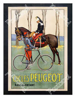 Historic Cycles Peugeot 1900s Advertising Postcard
