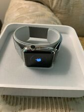 Apple Watch 38mm Stainless Steel Case Silver Milanese Loop - FIRST GENERATION