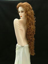 "Super Long Curly Wig! Wild Girl!   Strawberry Blonde 40""    D11"