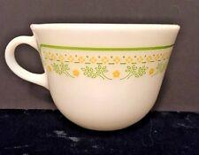 Vintage Pyrex Summer Impression Sunshine Coffee Tea 8oz Cup Corning Green Yellow