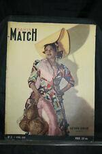 magazine paris match N° 2  - 1er avril 1949