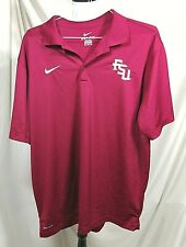 Nike Florida State University Golf Polo Xxl Dri Fit Shirt Fsu Seminoles Maroon