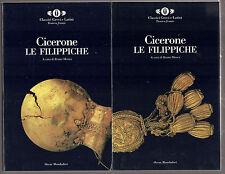 """Cicerone: """"LE FILIPPICHE"""" - 2 Volumi con cofanetto - Testo a fronte"""