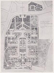 D4591 Plant Of Sanatorium Carlo Fornanini IN Rome - Map Period - 1935 Old Map