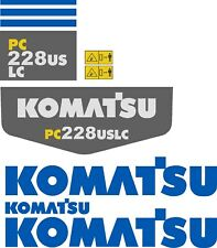 Komatsu PC228 Decal Kit. The most complete aftermarket kit available