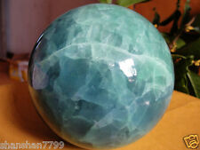 100mm new Glow In The Dark Stone crystal Fluorite sphere ball AAA+++6gv