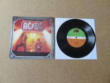 "AC/DC Dirty Deeds Done Dirt Cheap ATLANTIC HEAVY METAL SERIES UK PRESSING 7"" HM2"