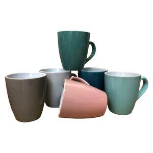 Kaffeebecher 6 Stück Bunt Tassen 200ml aus Keramik Kaffee Becher Tassen 6er