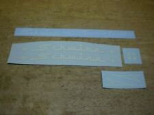 Complete Schwinn Approved Town And Country Tri Wheeler White Bicycle Decal Set