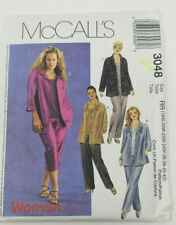 3048 McCall's Shirt Top Pants Vtg Sewing Pattern Women's Clothing Size 18-24W