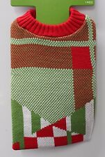 MEDIUM DOG KNIT SWEATER Cold Weather Christmas Costume Red Green Winter Cool NEW
