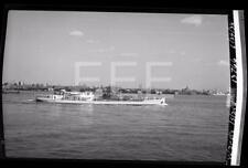 6/29/38 SS Wards Island Ocean Liner Ship Old Photo Negative 638B