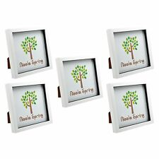 "8x8"" Square Photo 3D Box Picture Frame, White - Standing & Hanging 20x20cm - x3"