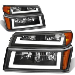 For 2004-2012 Colorado Canyon Black/Amber Corner LED DRL Headlight Bumper Lamps