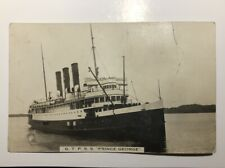 1910 GTP SS PRINCE GEORGE STEAMSHIP EARLY REAL PHOTO POSTCARD VANCOUVER BC