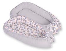 Newborn Double sided Baby Cocoon Sleep Nest Cushion Breathable Snuggle Pod Grey