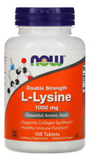 Now Foods L-Lysine 1000 mg 100 Tablets Collagen, Immune support, Amino Acid
