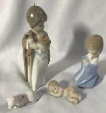 Lladro Mini Sagrada Familia Holy Family Nativity Ornaments (Mary, Joseph &Jesus)