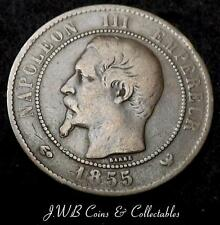 1855-W France 10 Centimes Coin