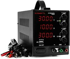 DC Power Supply Variable 30V 10A, KAIWEETS 4-Digit Large Display