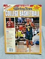 Sporting News College Basketball Magazine 1993 Jalen Rose Michigan