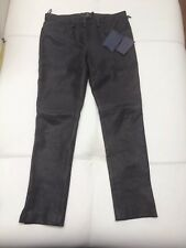 Prada Stretch Leather Trousers Sz 38