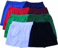 Mens Boys Girls Kids Children's School Sports Shadow Stripe PE Shorts 3-12 years