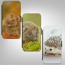 Cute Little Hedgehog WALLET FLIP PHONE CASE COVER for IPHONE SAMSUNG HUAWEI
