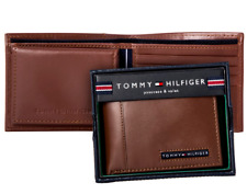 Tommy Hilfiger Cambridge Passcase Men's Credit Card Black Leather Wallet 5675 - Tan