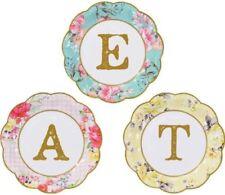 Decoración y menaje platos multicolores sin marca para mesas de fiesta