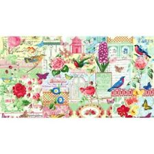 MICHAEL MILLER MENAGERIE FLOWERS BIRDS FABRIC 1/2 YD