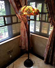 Floor Lamp Tiffany Style Stained Glass Light Handcrafted Victorian Shade Bronze