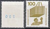 Bund 702 A Rd ** 100 Pf  Unfallverhütung 1971  mit blauer Zählnummer