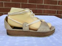 Marc Jacobs Standard Supply Lace Up Gold leather Sandals Shoes Size EUR 38-US 8