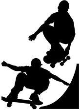Grande Vinile Graphic Skateboard Skater Per Ragazzi rampa salto Camera Da Letto Wall Art SILHOUETTE