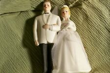 Vintage Japan Wilton 40's 50's Chicago Bride & Groom Wedding Cake . NEW