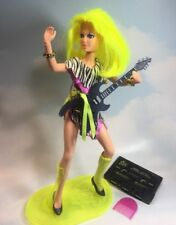 Jem and the Holograms Pizzazz doll clothes shoes stand Guitar vintage Hasbro