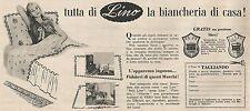 W1755 Tutta di Lino la biancheria di casa - Pubblicità del 1958 - Vintage advert