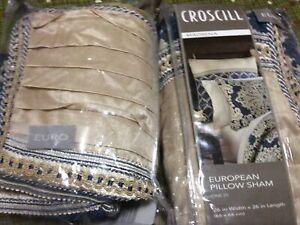 Croscill Pillow Shams Madrena Set Of 2 Euro European 26 in x 26 in Deep Teal