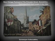 Rare Vintage Postcard of The Principle Street Enniskillen c1906.AH7690.