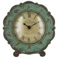 Stunning Turquoise Pewter Table Clock. Vintage Look